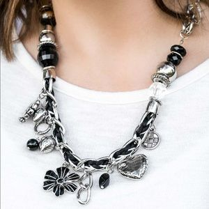 Paparazzi Charmed I'm Sure Black Necklace